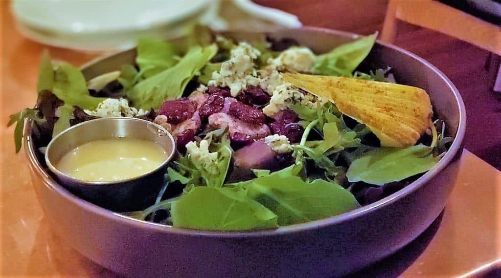 Blue Cheese Pear Salad at Catch 27. Love and Art Meet In Romantic St. Augustine