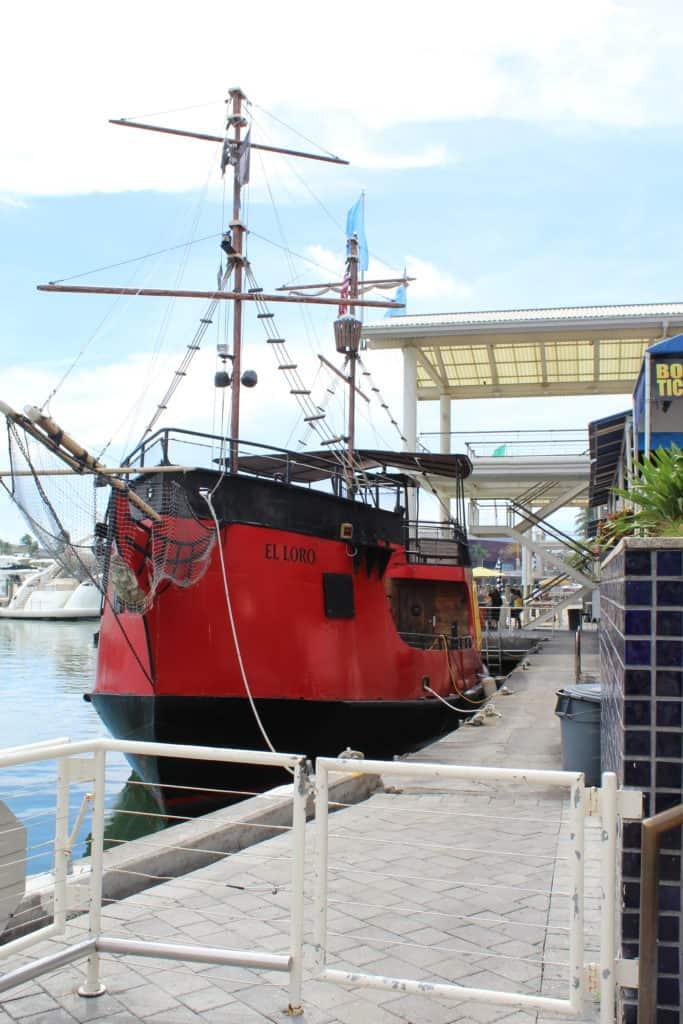 Pirate Ship at Bayside Marketplace, Miami Florida