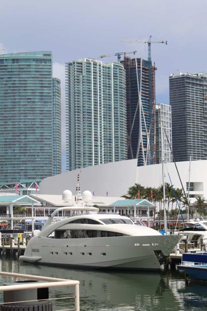 Bayside Marketplace Marina and Miami Skyline