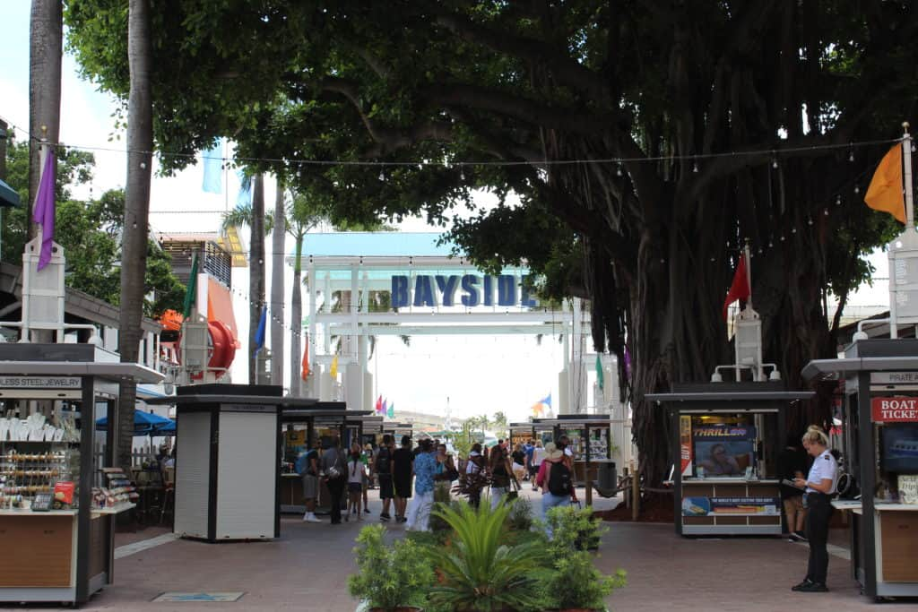 Entrance to Bayside Martketplace in Miami, Florida
