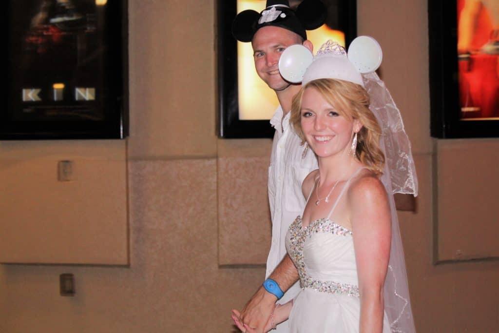 Newlyweds at Disney Springs