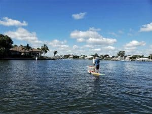 Paddle boarding at Zeke's