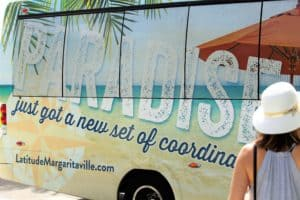 Latitude Margaritaville Daytona Beach paradise bus