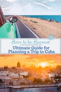 Cuba skyline and ocean drive.