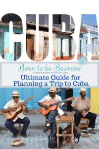 Cuba musicians playing street side.
