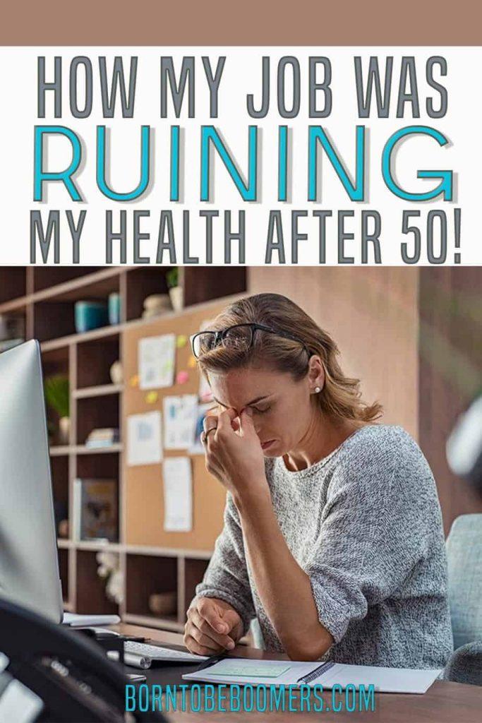 My job was ruining my health Pin